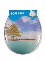 Capac vas WC, moale (palmier)