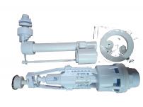 Набор с боковой подводкой 1/2 , с пластиковым штуцером кнопка хромированная (КБ+КС)